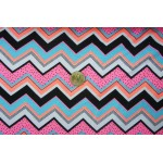 *FN02491* Jersey Knit: Pink theme Chevron